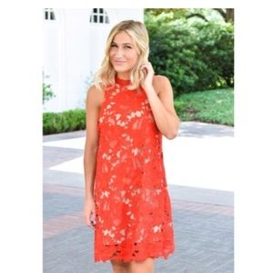 The Impeccable Pig Red Lace Dress